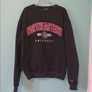 Northeastern University Champion Powerblend Crew
